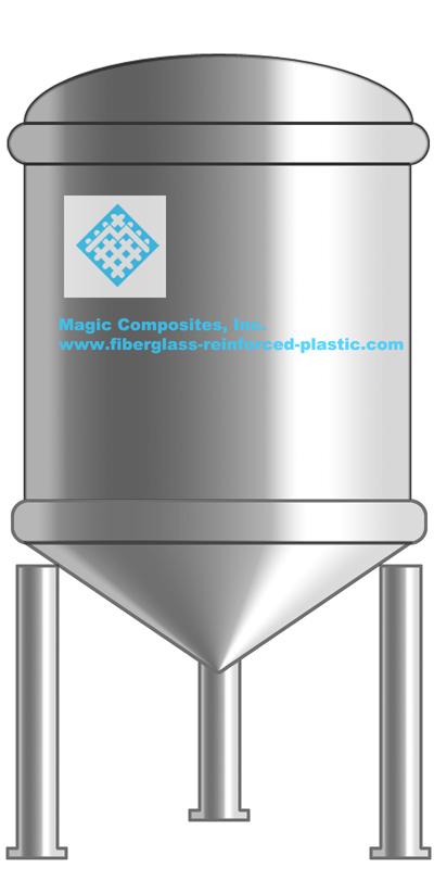 Frp Cone Bottom Tanks Fiberglass Storage Tanks Frp